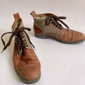 GORDON RUSH HARRISON 8.5 boots leather brown shoes